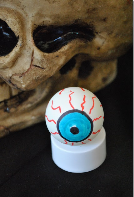 Here Is Looking At You Spooky Eyeball Craft The
